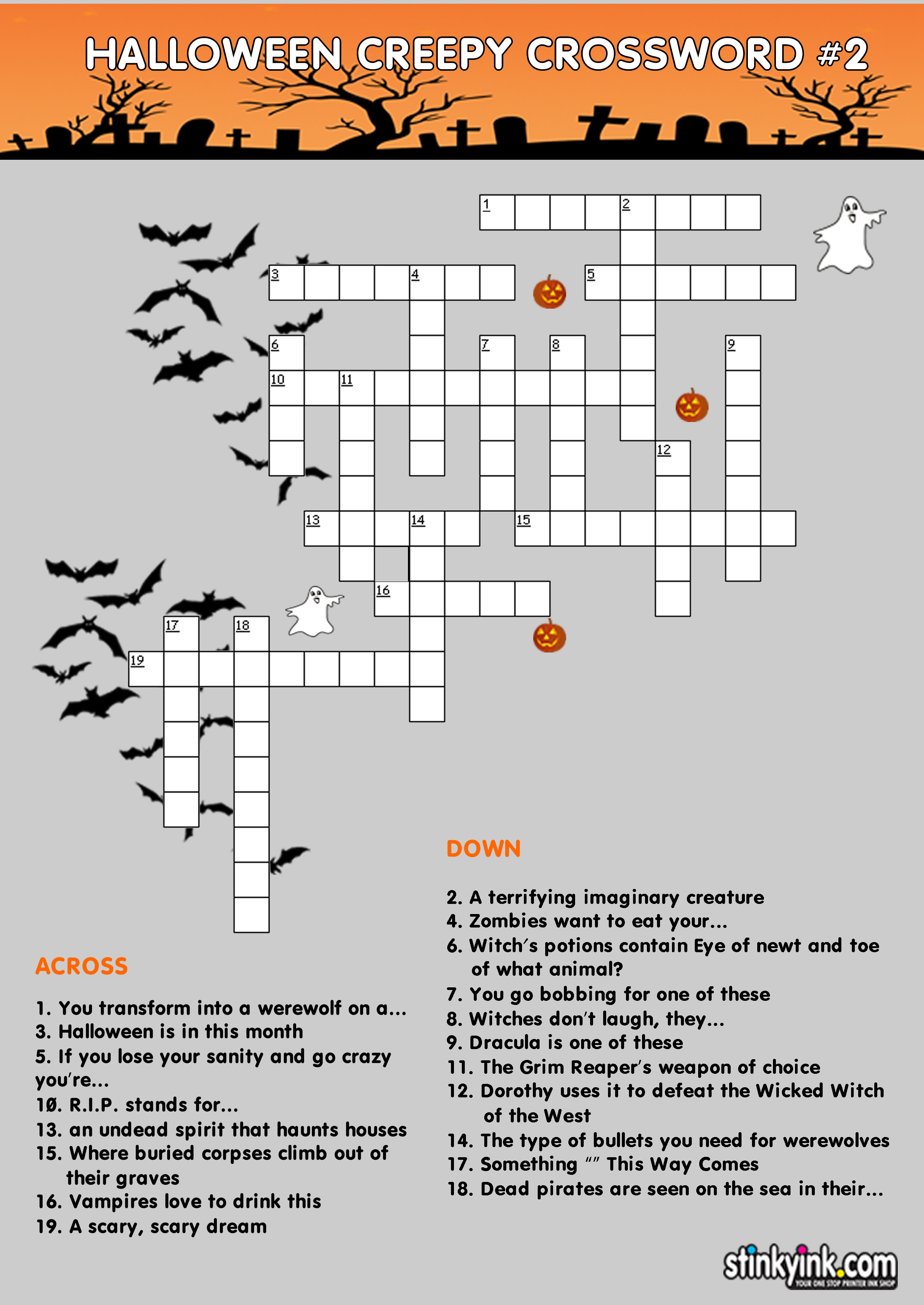 Elementary Interactive Crossword puzzles using riddles and