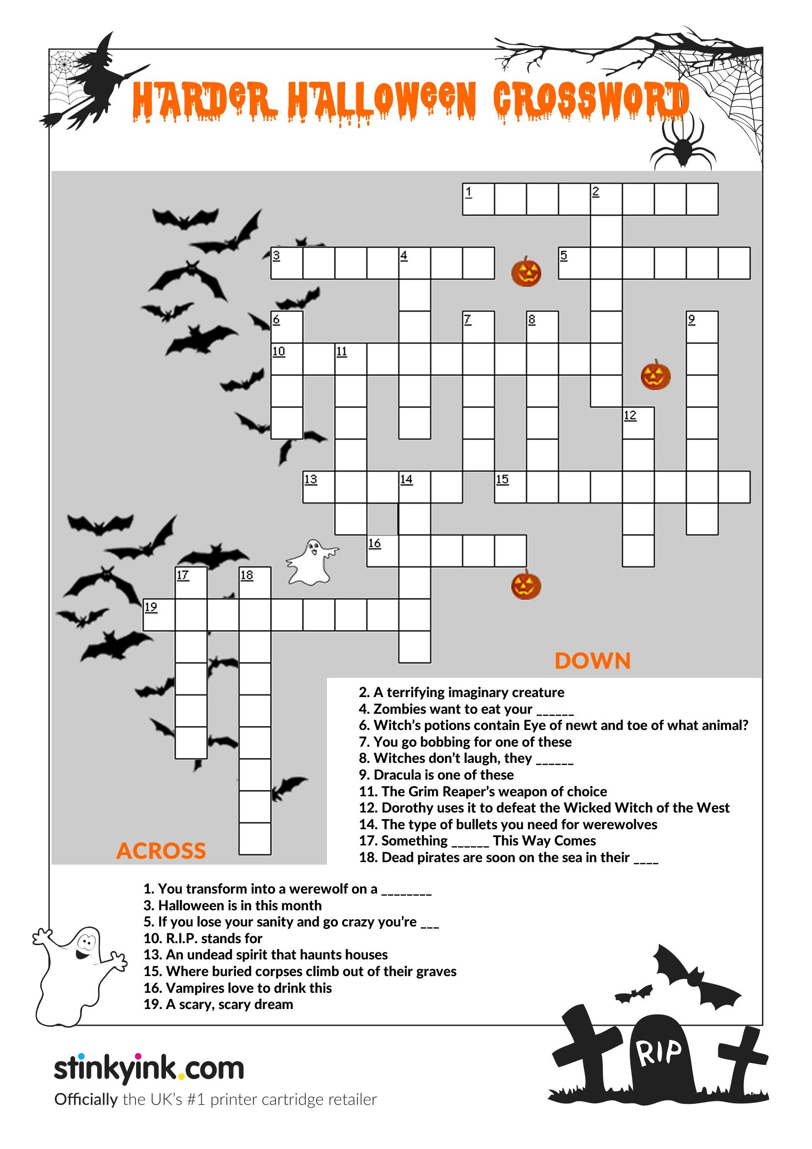Hellishly Hard Halloween Crossword